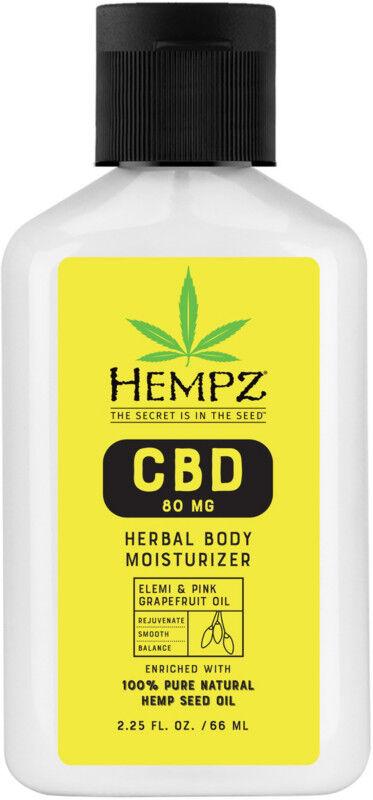Hempz - Travel Size Elemi & Pink Grapefruit Oil 80mg CBD Herbal Body Moisturizer