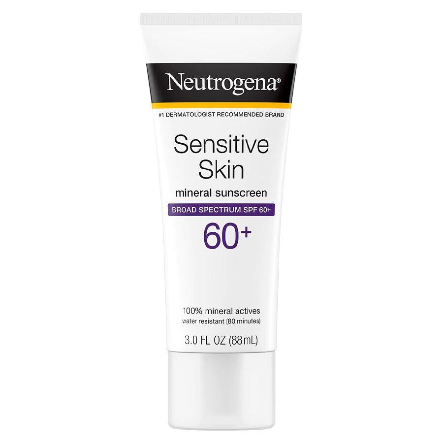 Neutrogena - Sensitive Skin Mineral Sunscreen Lotion SPF 60+ Fragrance-Free
