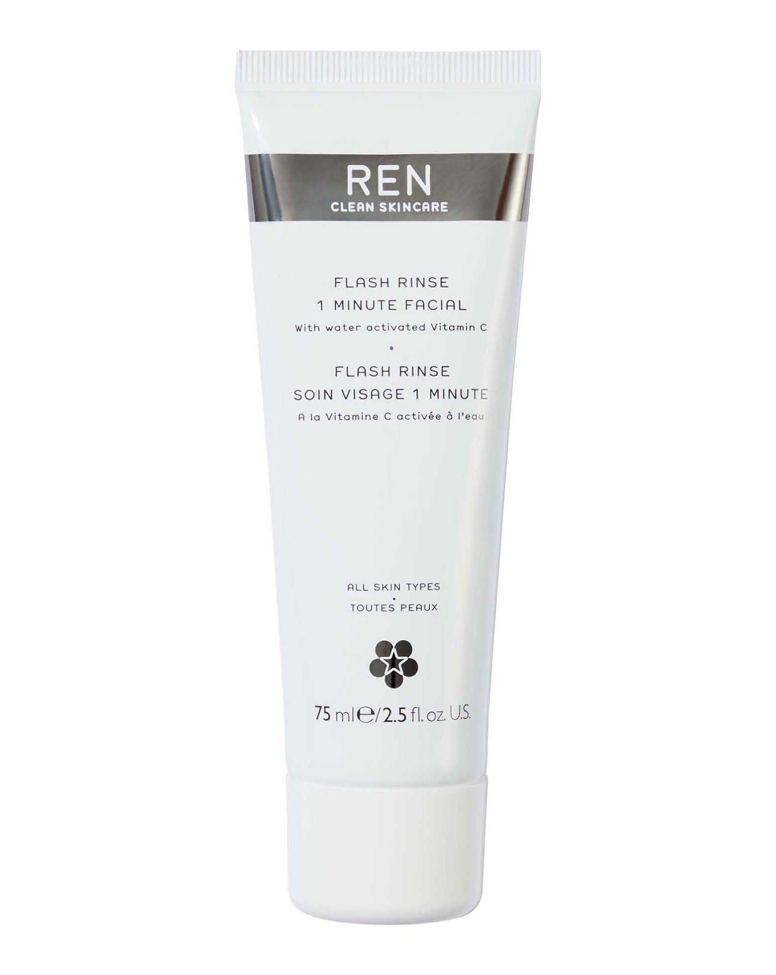 REN CLEAN SKINCARE - Flash Rinse 1 Minute Facial with Water Activated Vitamin C