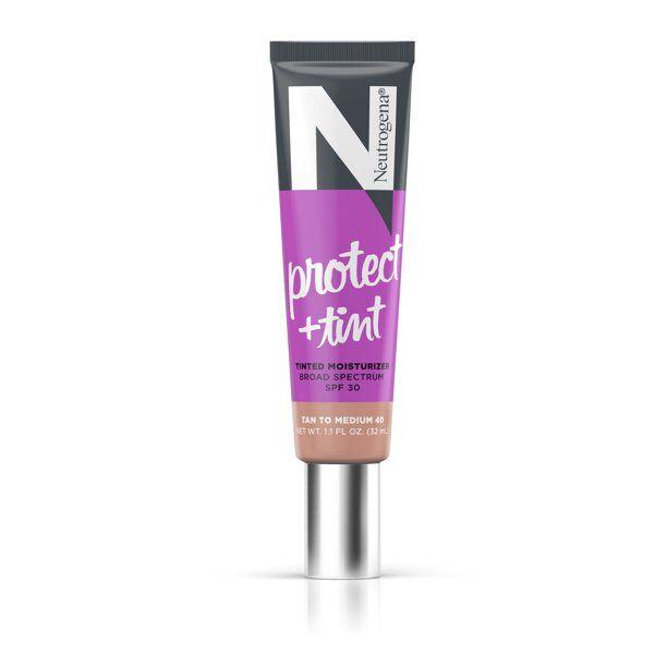 Neutrogena - Protect + Tint Tinted Moisturizer, SPF 30, Shade 40,