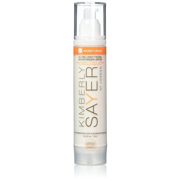 Kimberly Sayer - Ultra Light Facial Moisturizer SPF 30 - For Oily and Acne-Prone Skin,