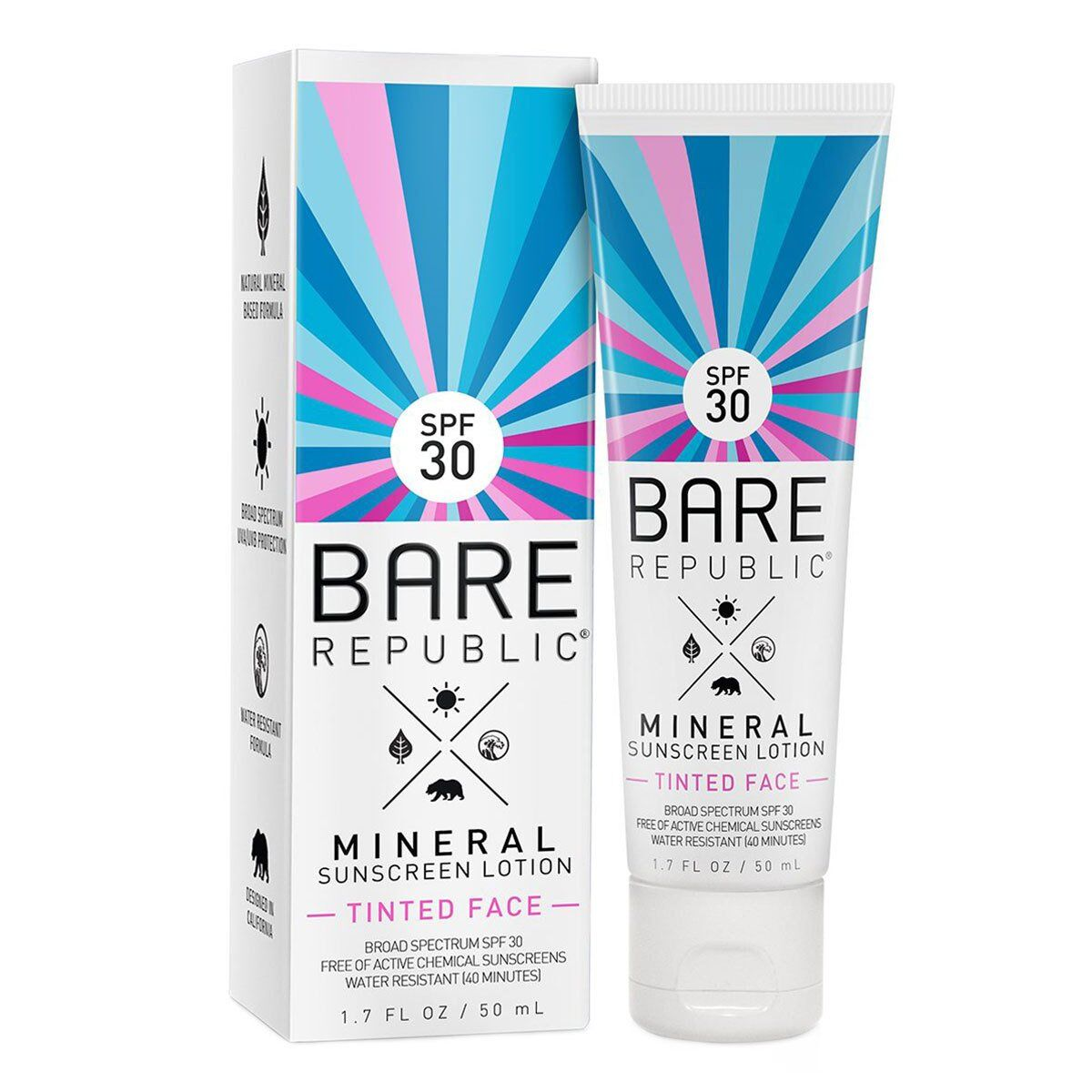 Bare Republic - Mineral Tinted Face Sunscreen Lotion SPF 30