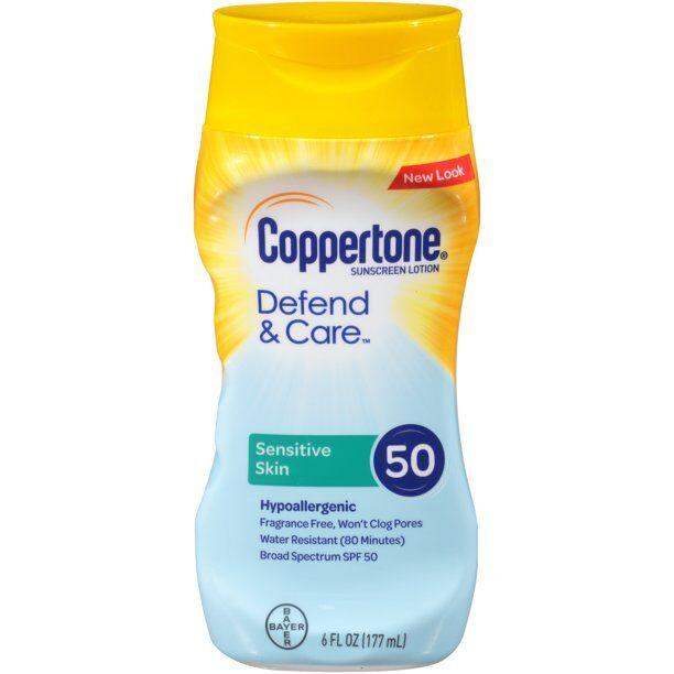 Coppertone - Defend & Care Sensitive Skin Sunscreen SPF 50 Lotion