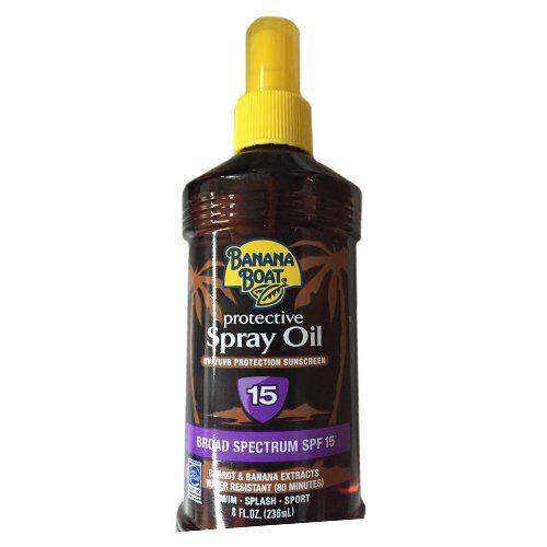 Banana Boat - Protective Spray Oil , SPF 15, , 3 Pack