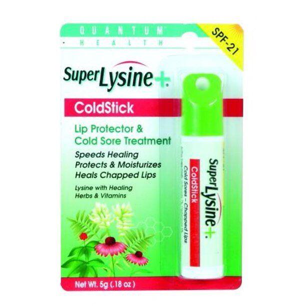 Quantum - Health Super Lysine+, ColdStick, Lip Treatment & Protectant, SPF 21, .