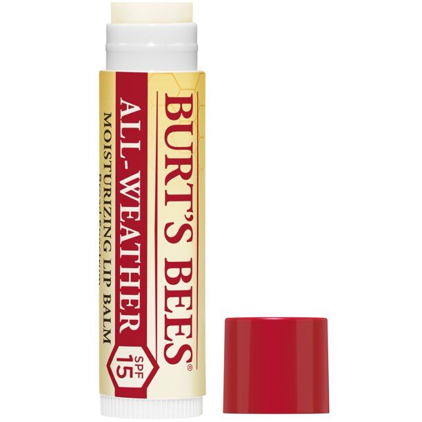 Burt's Bees - 100% Natural All-Weather SPF15 Moisturizing Lip Balm, Water Resistant - 1 Tube