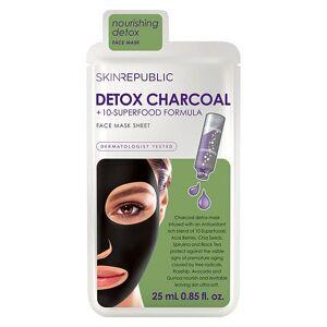 Skin Republic - Detox 10 Superfood & Charcoal Face Sheet Mask
