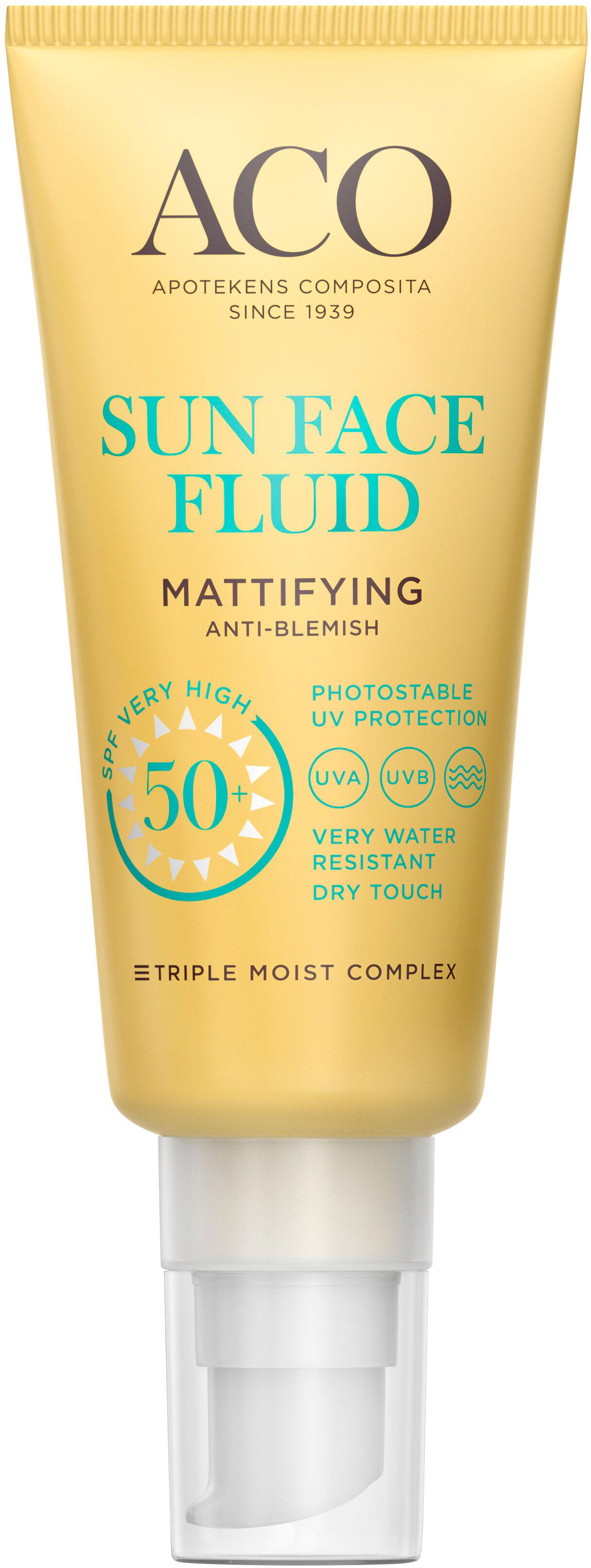 ACO - Sun Face Mattifying Fluid SPF50+