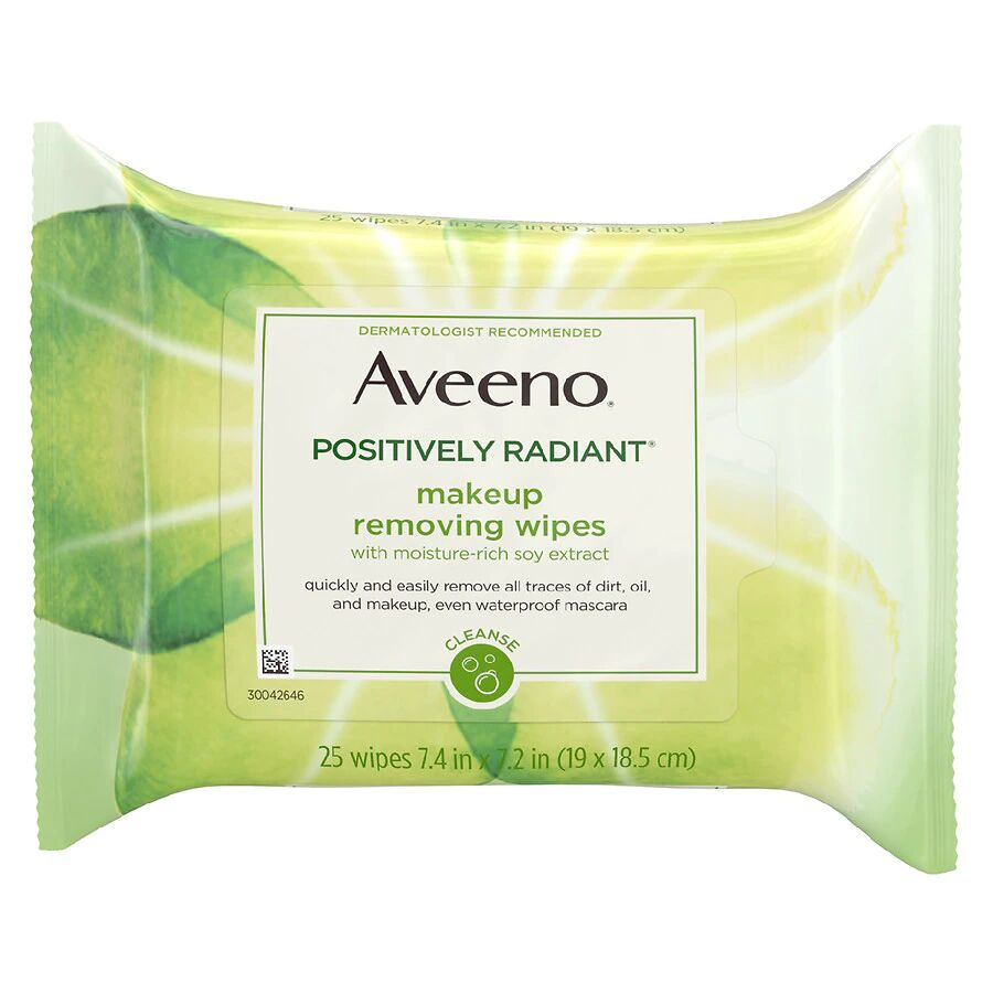 Aveeno - Positively Radiant Oil-Free Makeup Removing Face Wipes