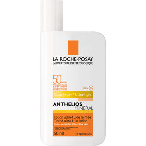 La Roche Posay - Anthelios Mineral Tinted Ultra-Fluid Face Sunscreen Lotion SPF50 For Sensitive Skin
