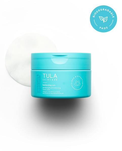 TULA Skincare - Purifying & pH Balancing Biodegradable Toner Pads