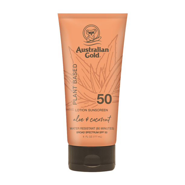 Australian Gold - Plant Based Lotion Sunscreen, Aloe & Coconut, SPF 50