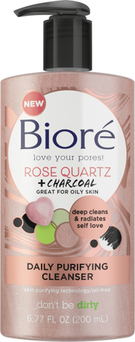Bioré - Rose Quartz + Charcoal Daily Purifying Cleanser