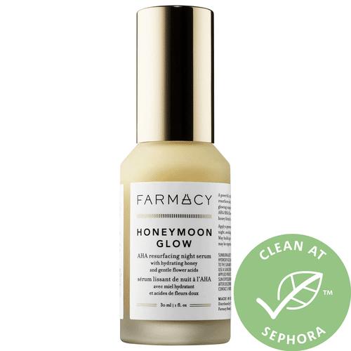Farmacy - HONEYMOON GLOW AHA Resurfacing Night Serum with Hydrating Honey + Gentle Flower Acids