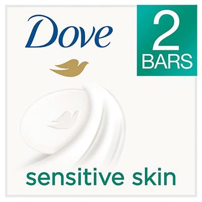 Dove Beauty - Dove Sensitive Skin Beauty Bar , 2 Bar