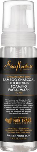 SheaMoisture - African Black Soap and Bamboo Charcoal Detoxifying Foaming Facial Wash